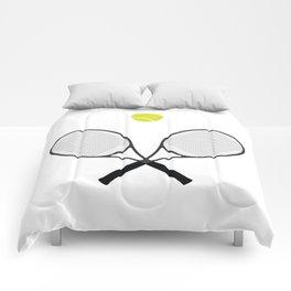 Tennis Racket And Ball 2 Comforters