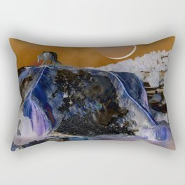 The Great White Wolf at the Travertine Hot Springs Rectangular Pillow