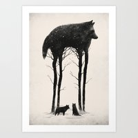 hunter Art Prints featuring Standing Tall by Dan Burgess