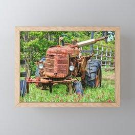 Rusty Farmall Framed Mini Art Print