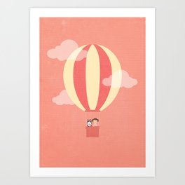 In A Hot Air Balloon Art Print