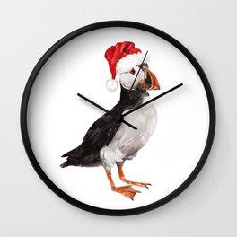 Christmas Puffin Wall Clock
