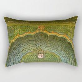Green gate City Palace Jaipur, India Rectangular Pillow