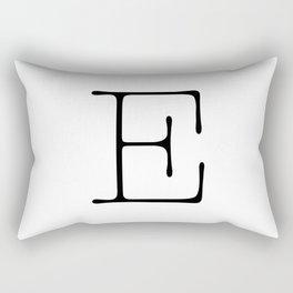 Letter E Typewriting Rectangular Pillow