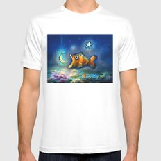 Pisces Mens Fitted Tee White MEDIUM