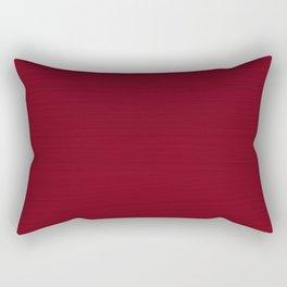Dark Burgundy Red Brush Texture Rectangular Pillow
