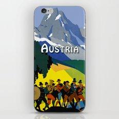 Austria - Vintage Travel Ad iPhone & iPod Skin