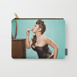 """Touch-up"" - The Playful Pinup - Sexy Pinup Girl Refreshing Lipstick by Maxwell H. Johnson Carry-All Pouch"