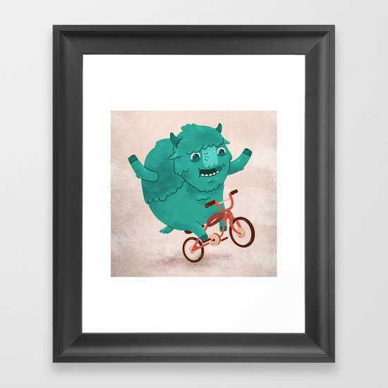 Bicycle Buffalo Framed Art Print