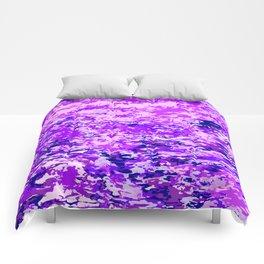 Purple Flames Background Comforters