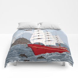 Red ship Comforters