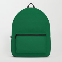 Classic Dark Green Solid Color Pairs To Sherwin Williams Greenbelt SW 6927 Backpack