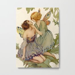 """Two Butterfly Fairies"" by Erich Schutz Metal Print"