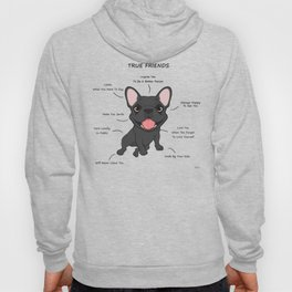 True Friends - Blue Frenchie Hoody