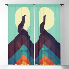Howling Wild Wolf Blackout Curtain