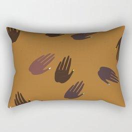 Melanin Hands Rectangular Pillow
