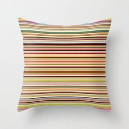 Old Skool Stripes - Horizontal Throw Pillow