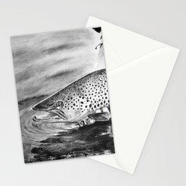 Marrón para un distraído (Brown Trout for a distracted) Stationery Cards