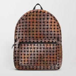 Wooden Circular Wood Weave Pattern Backpack