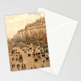 """Camille Pissarro """"Boulevard Montmartre à Paris"""" Stationery Cards"""