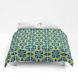 Emerald Glow Pattern Comforters