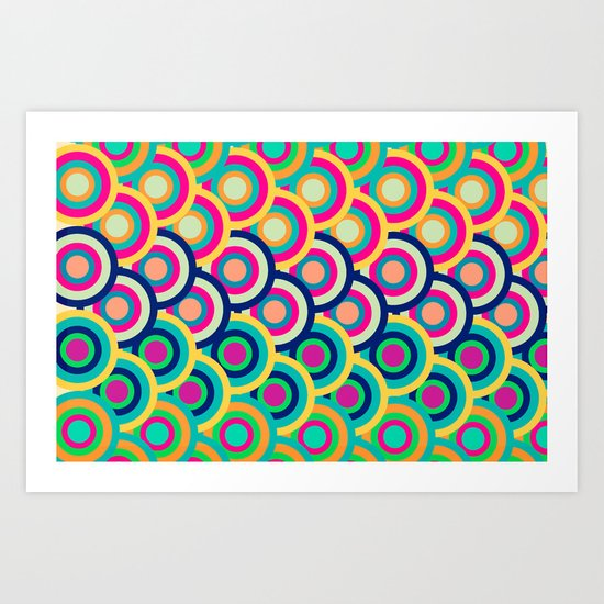 Circle colors Art Print
