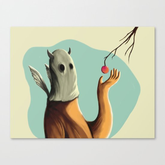 Collecting the fruit Canvas Print