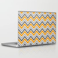 chevron Laptop & iPad Skins featuring Chevron by eARTh