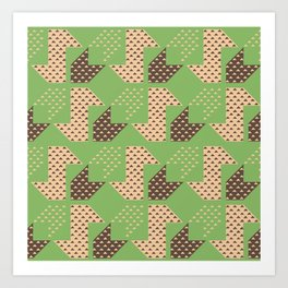 Clover&Nessie Pistachio/Mocha Art Print