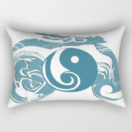 Dao drawn by clouds - turquoise Rectangular Pillow