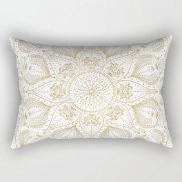 Boho Chic gold mandala design Rectangular Pillow