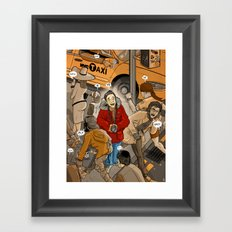 Spot the Tourist Framed Art Print