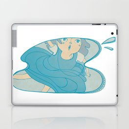 The girl who fell in a puddle Laptop & iPad Skin