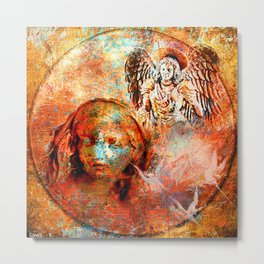 The annonciation of the archangel Gabriel to the Virgin Mary Metal Print
