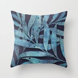 Watercolor Ferns Throw Pillow