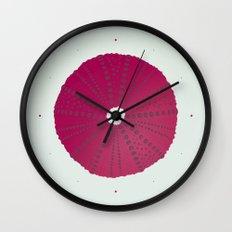 Sea's Design - Urchin Skeleton (Deep Pink) Wall Clock