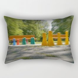 Raindrop play Rectangular Pillow