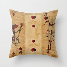 Oddity Playcards - Joker & Queen Throw Pillow