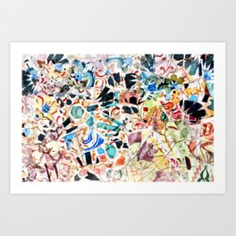 Mosaic of Barcelona VI Art Print
