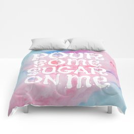 Cotton candy | Sugar | Pinks | Aesthetic Quotes | Candy shop decor Comforters