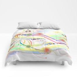 Abstrakt - Frühling 1 Comforters