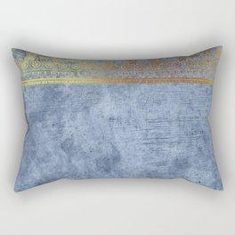 Blue Egypt Rectangular Pillow