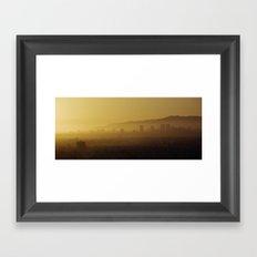 Los Angeles Sunset Framed Art Print