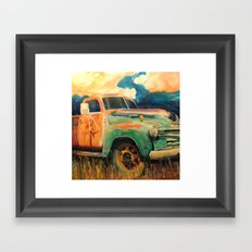 Harvest Truck Framed Art Print