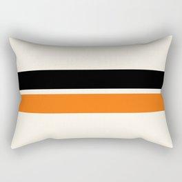 2 Stripes Black Orange Rectangular Pillow