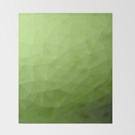 Greenery ombre gradient geometric mesh Throw Blanket