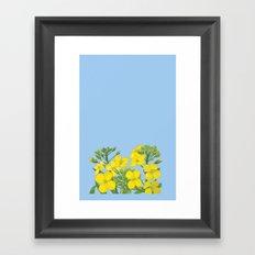 Summer flower in yellow Framed Art Print