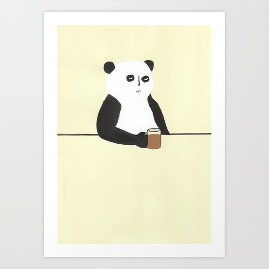 Panda walks into a bar Art Print