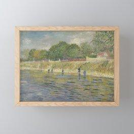Bank of the Seine Framed Mini Art Print