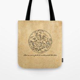 Dante's Inferno - Contemplate the Stars - Dante Alighieri Tote Bag